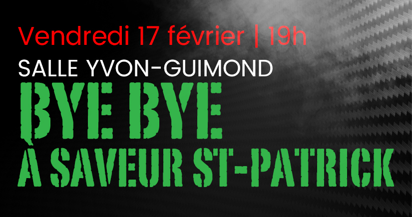 Bye bye à saveur St-Patrick